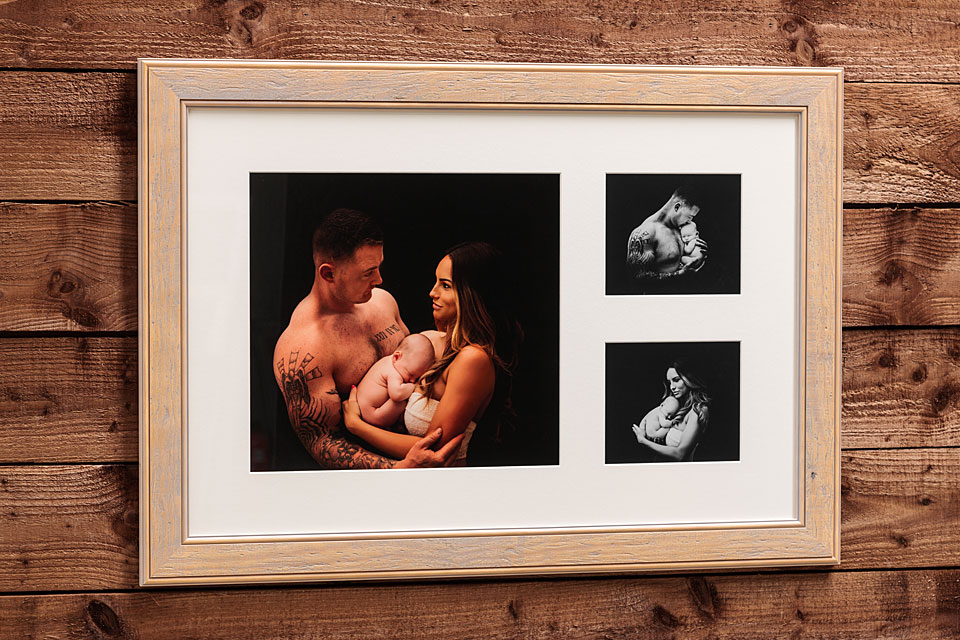 "Woodland Frame - 30""x20"" - Template Used = DT-162 - 30x20 (15x14 + 7x6 x2) - Frame = Cream Wash / Mount = White"