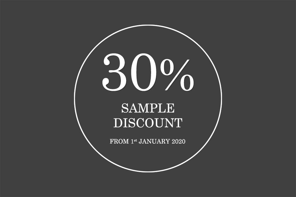 30% Sample Discount