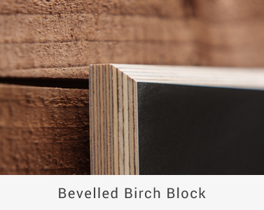 Bevelled Birch Block Collection